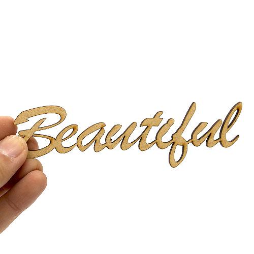 Beautiful 뷰티풀 레터링 11cm 10개 C-06-014