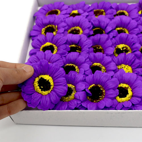 비누꽃 거베라 보라색 50송이 한박스 꽃대미포함