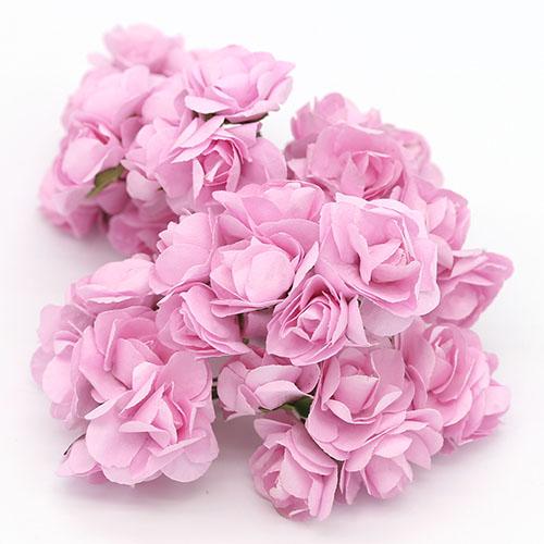 미니장미 연분홍 종이꽃 B-05-024