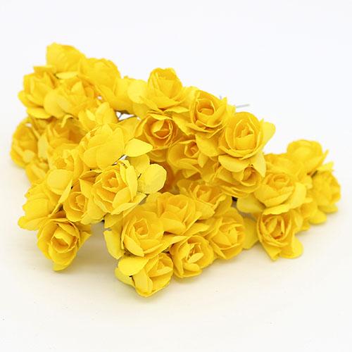 미니장미 노랑 종이꽃 B-05-025