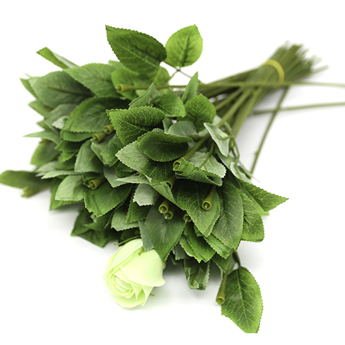 장미꽃대 잎+철사10개