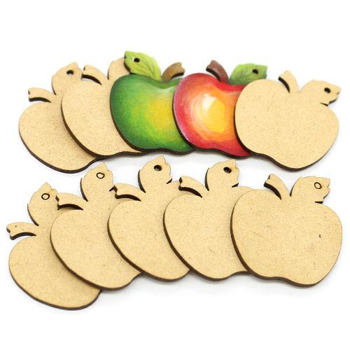 사과 오너먼트 반제품10개 5.5cm C-01-074