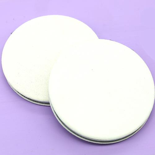 양면손거울 원지름8cm 흰색천재질 반제품 F-02-067