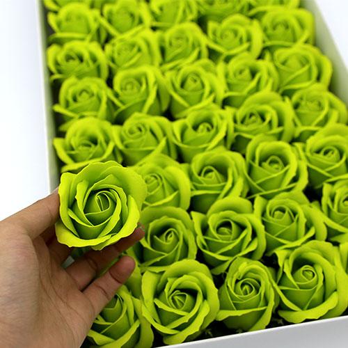 엘로그린 비누장미 50송이 한박스 꽃대미포함