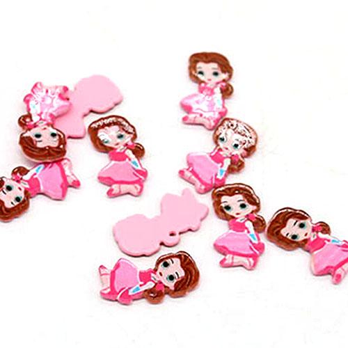 핑크 공주  10개 2.5cm B-04-076
