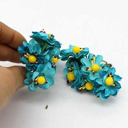 푸른매화꽃  페이퍼   6송이 3cm B-05-011