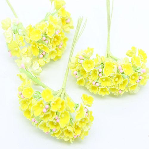 파스텔미니노랑조화꽃     8줄기드려요 1cm A-05-034