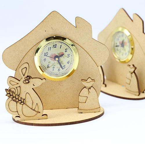 쥐하우스  탁상시계 비조립반제품   시계포함 12cm E-08-009