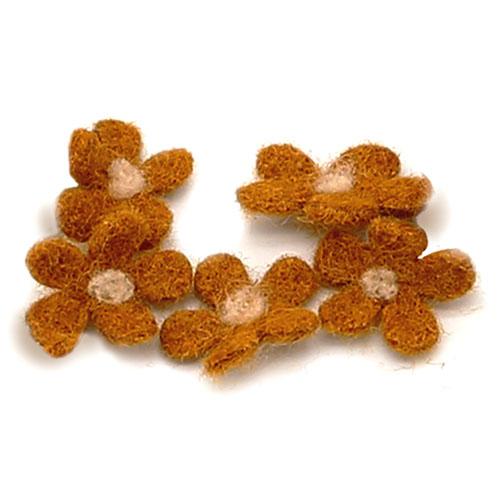 미니갈색꽃 5개 크기 1.5*1.5cm B-04-110