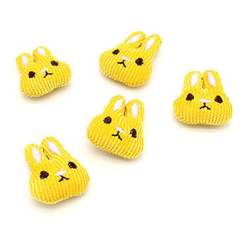 귀염 토끼 노랑 5개 B-04-153