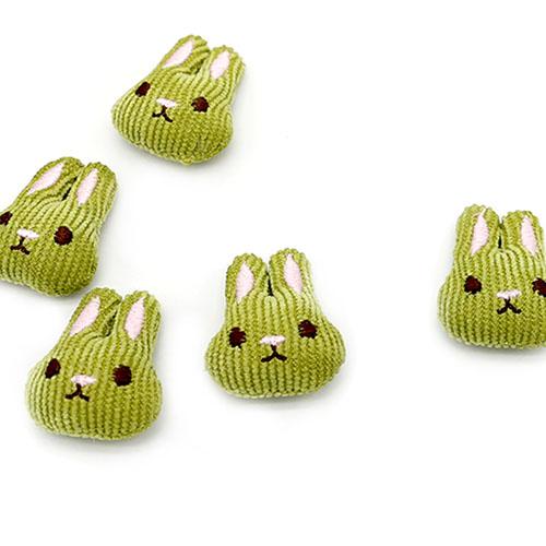 귀염 토끼 연두 5개 B-04-152