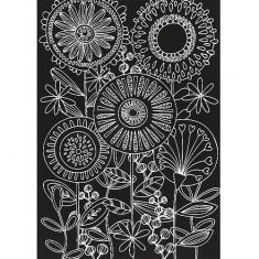스크래치 페이퍼 도안-둥근 꽃