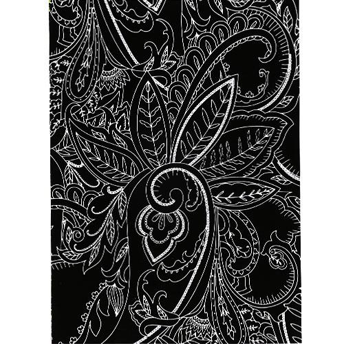 스크래치 페이퍼 도안-나뭇잎 줄기 패턴 E-02-001