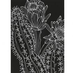 스크래치 페이퍼 도안-선인장 꽃