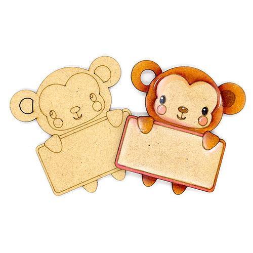 원숭이 이름표 네임택 반제품 7cm 10개 D-08-014