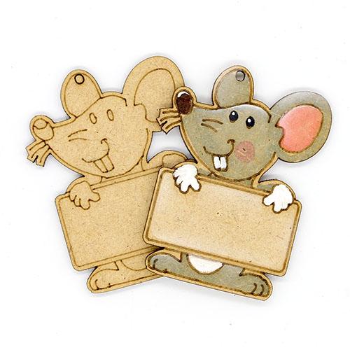 쥐 이름표 네임택 반제품 7cm 10개 D-08-011