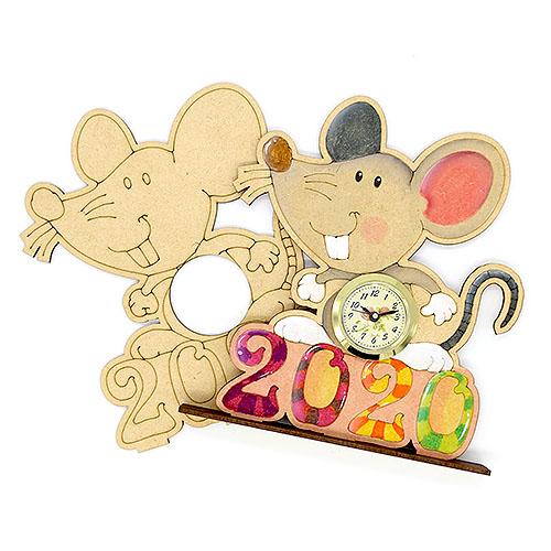 2020 쥐 탁상시계 비조립반제품  시계포함 19cm E-06-013