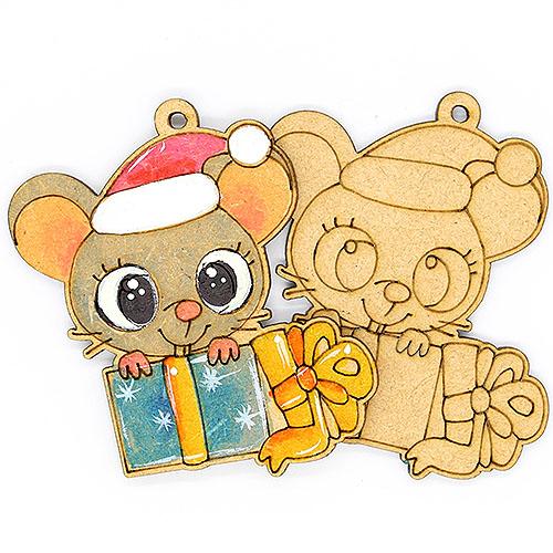 선물상자 쥐 반제품 10개 7cm C-08-055