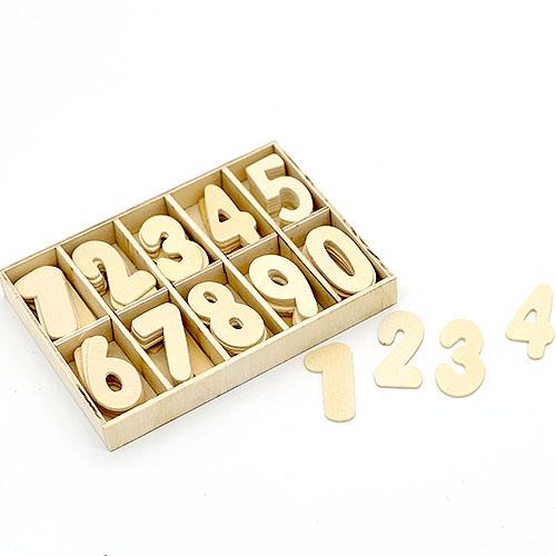 시계숫자 4cm 1세트 7개씩 포장 H-01-049