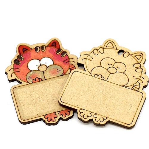 고양이 이름표 네임택 반제품 7cm 10개 D-08-008