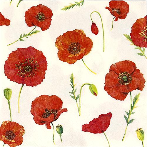 붉은꽃 냅킨 K-07-015