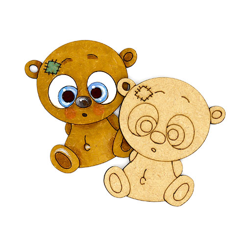 눈큰곰 오너먼트 7cm 10개 B-07-033